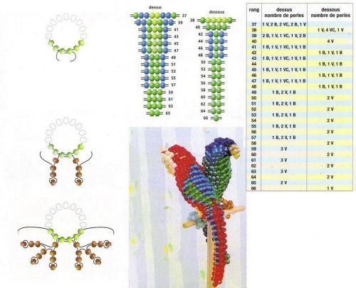 попугай схема плетения