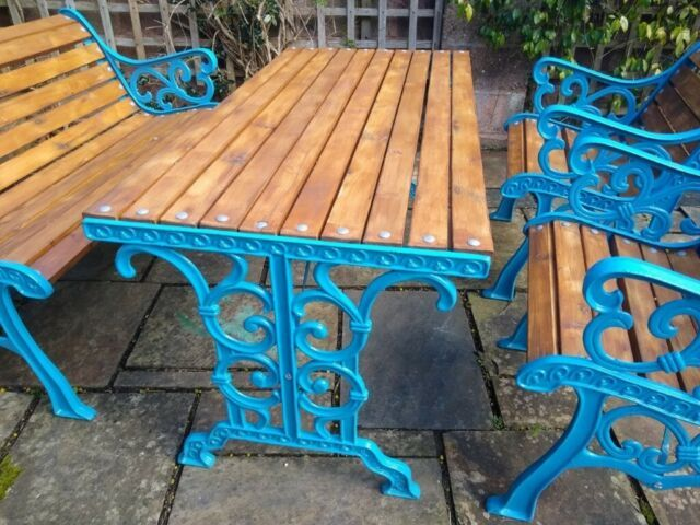 Antique Garden Furniture Set Table Chairs And Bench In Exeter