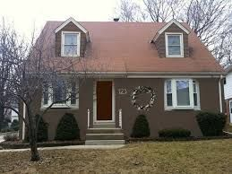 Image Result For Paint Colors For Reddish Brown Roof Painted Brick House Brick Exterior House Brick House Exterior Makeover