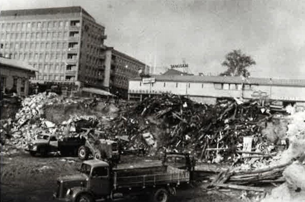Jyväskylän Sokoksen rakennustyömaa vuonna 1960
