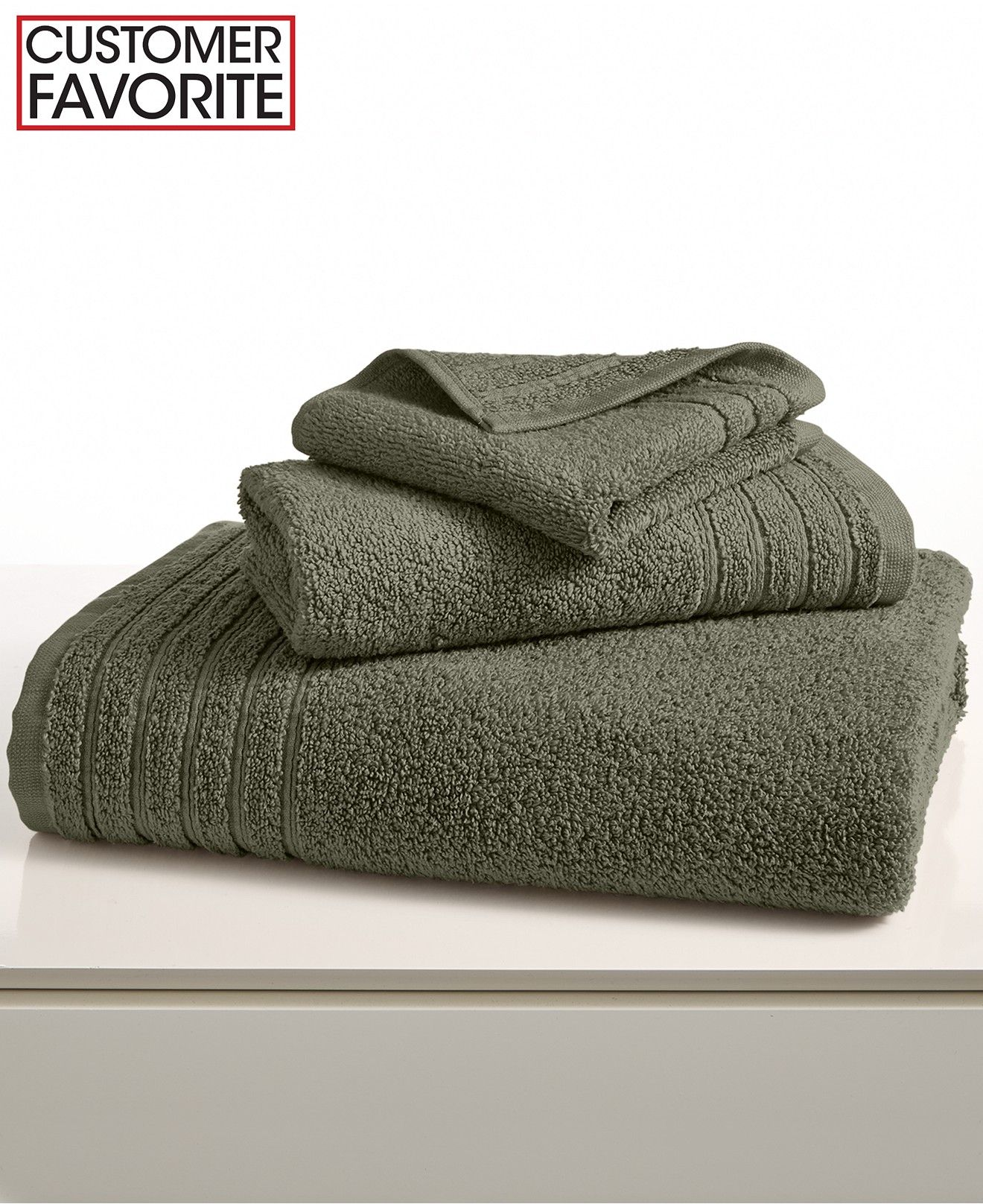 Color: Basil. Hotel Collection Bath Towels MicroCotton Collection ...
