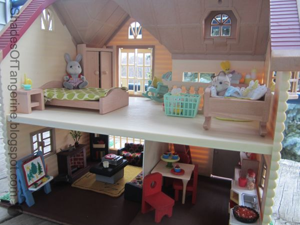 A Few Months Ago While Digging Through The Goodwill Outlet Center Bins I Found A Vintage Calico Cr Calico Critters Furniture Diy Barbie House Flipping Houses