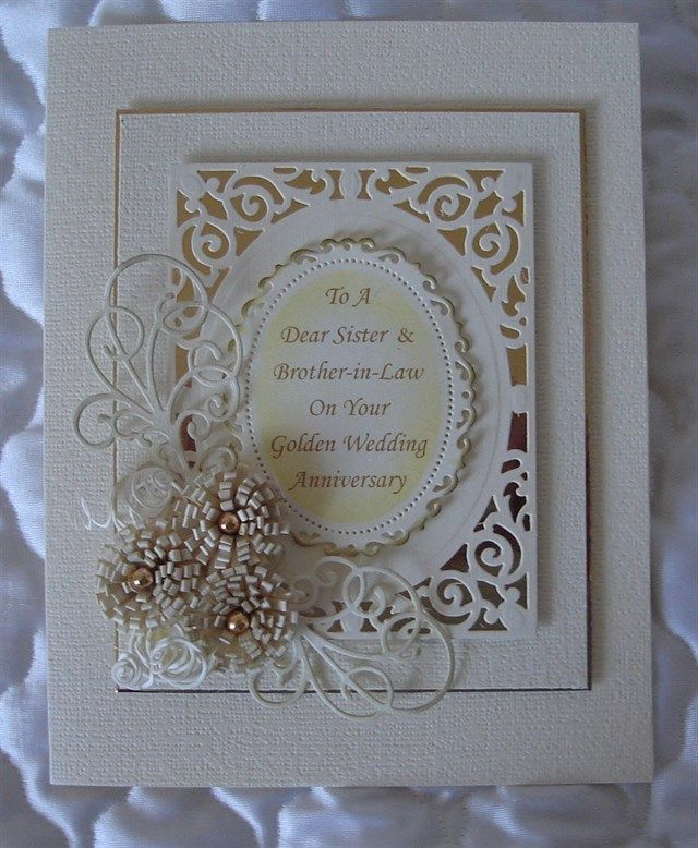 For My Brother And Sister In Laws Golden Wedding
