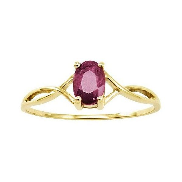 Birthstone Oval Solitare Ring, 14K Gold (€135) ❤ liked on Polyvore