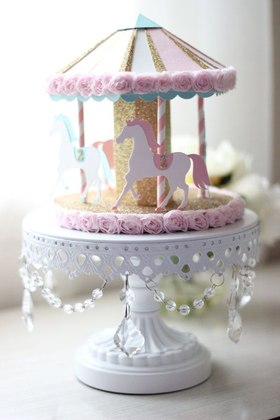 3d Carousel Cake Topper Or Centerpiece Carousel Party