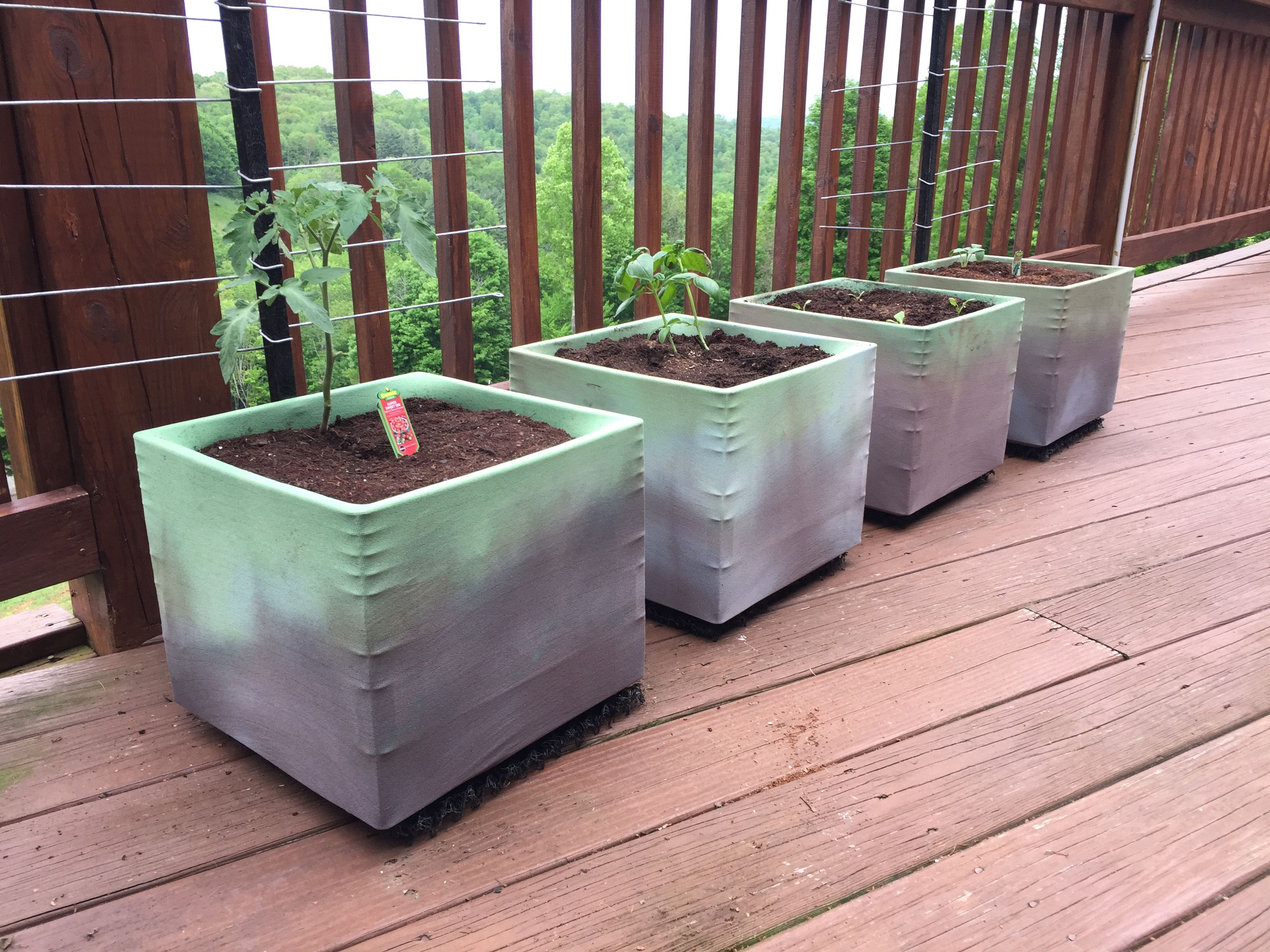 Stretch Grow Fabric Turns A Milk Crate Into An Awesome Planter Milk Crates Planters Crates