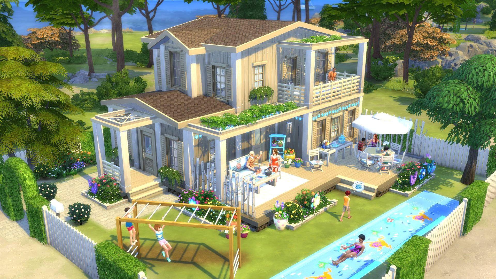 Sims 4 Garten Ideen Sims 4 Backyard Stuff Sims House Sims 4 Houses