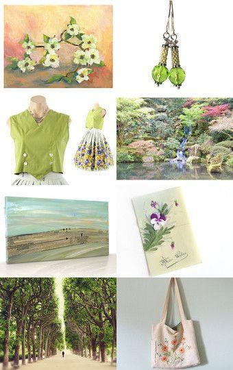 Spring Green a la #Epsteam by Judy on Etsy--Pinned with TreasuryPin.com #vett