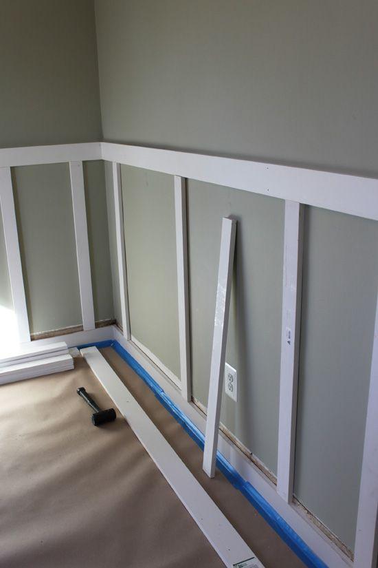 Board and Batten DIY. Replace cheap wainscot in dining room ... on diy stone, diy marble, diy stucco, diy drywall, diy cornices, diy brick, diy showers, diy woodwork, diy crown, diy insulation, diy beadboard, diy balcony, diy entertainment centers, diy trim, diy floors, diy columns, diy remodeling, diy windows, diy loft, diy baseboards,