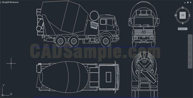 Reinforced Concrete Trucks Autocad Drawing Autobetonier