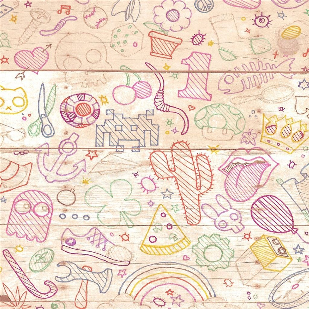 Cartoon Hand Painted Background IPad 4 Wallpaper Download