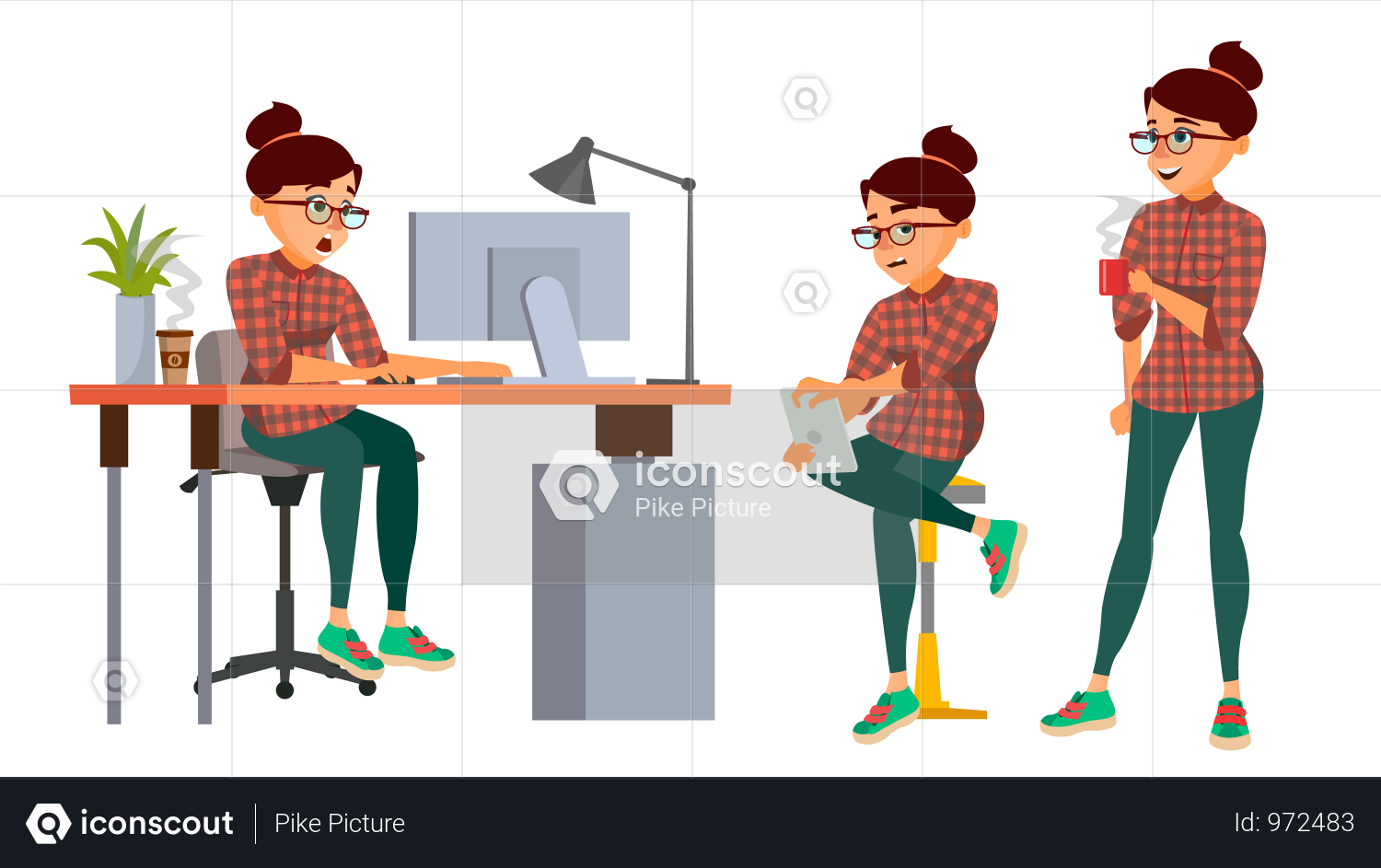 Premium Business Woman Character Illustration Download In Png Vector Format Character Illustration Female Characters Business Women