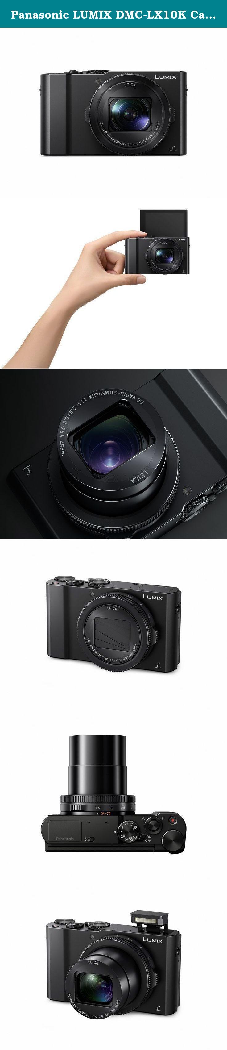 Panasonic Lumix Dmc Lx10k Camera 201 Megapixel 1 Sensor 3x 24 Lx10 Digital Black 72mm F 14 28 Leica Dc Lens Inside The Super Compact Beats