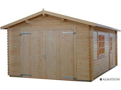 Garage en sapin de 18.2 m². Ce garage au design rustique bénéficie d'une belle contenance ! Le garage WW-69 vous permettra de garer votre véhicule et de le protéger des intempéries. Vous disposerez par ailleurs d'une surface confortable pour stocker également votre matériel de jardin. Ce garage est réalisé à partir de sapin blanc, un bois issus des forêts du nord de l'Europe et répondant à la certification FSC, un écolabel qui garantit une gestion durable des forêts.