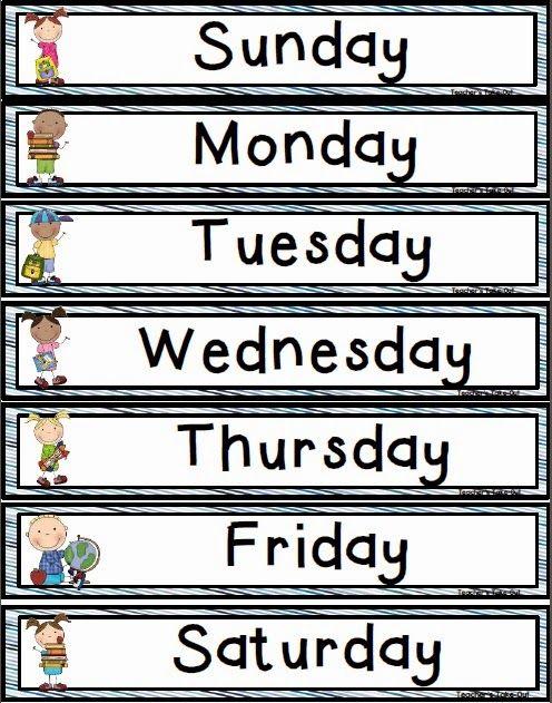 Days Of The Week Freebie Preschool Classroom School Activities Kindergarten Classroom