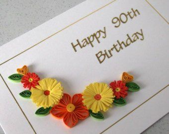 Quilled th birthday card handmade quilling design can be etsy also rh pinterest