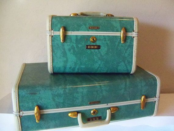 Samsonite Luggage Set-Marbled Aqua, Teal, Turquoise Blue Hardsided ...