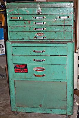 Vintage Craftsman Two Piece Rolling Tool Cabinet | Tool Box