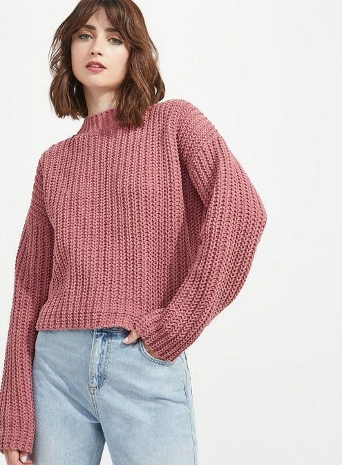 030b063751027 Womens Chenille Tie Back Knitted Jumper in 2019