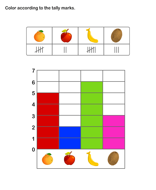 Printable Math Practice Sheet for Kids | Tally Chart Worksheets ...