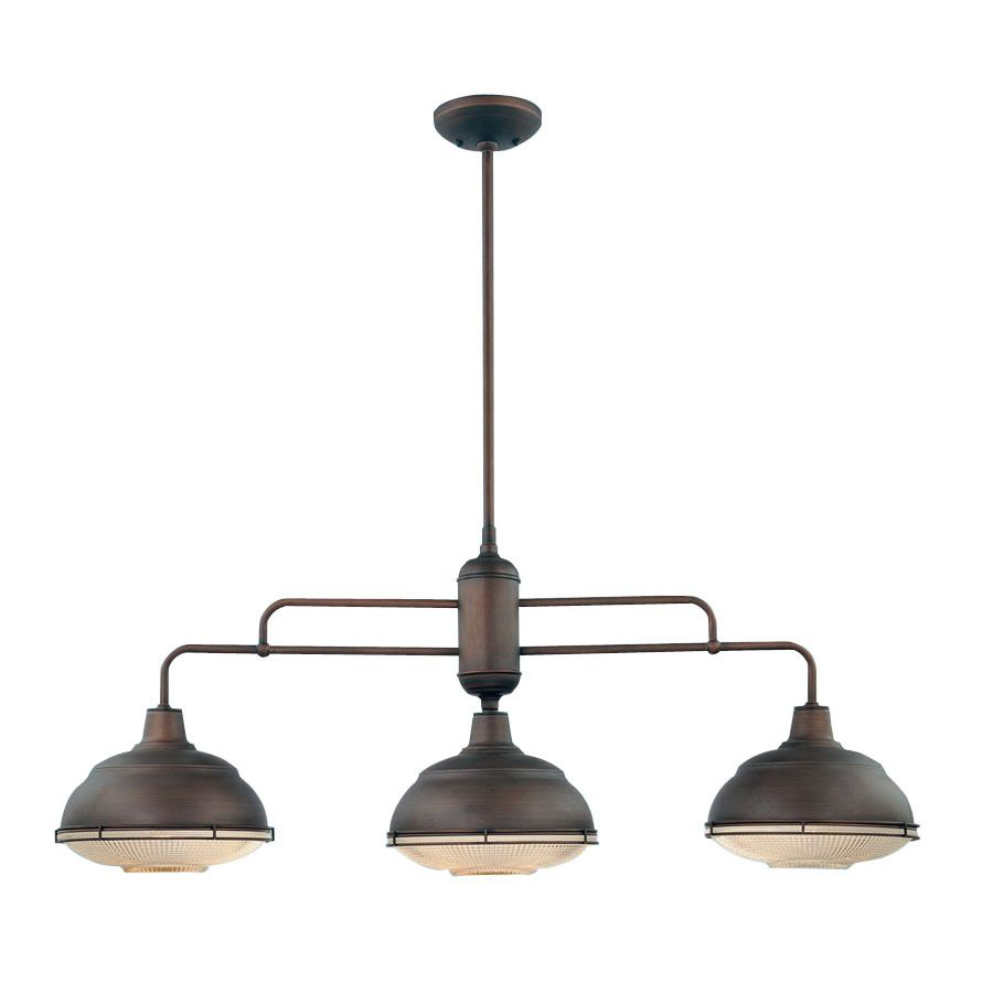 Shop Millennium Lighting NeoIndustrial Light Rubbed Bronze - 3 light kitchen island pendant lighting fixture