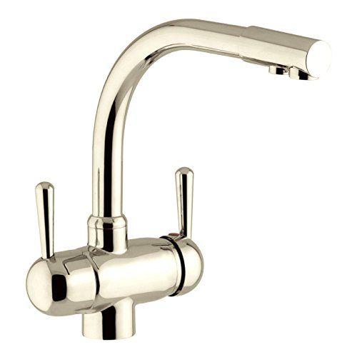 Designer 3-Wege-Wasserhahn GM L-Auslauf, Nickel Satiniert