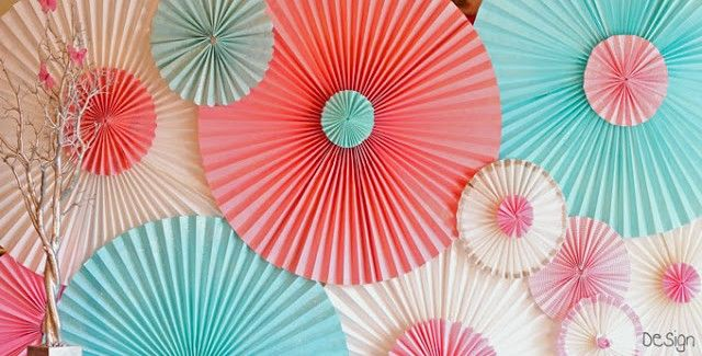 Wall decor for baby nursery, made from old paper window shades. #DIY #decor #infant