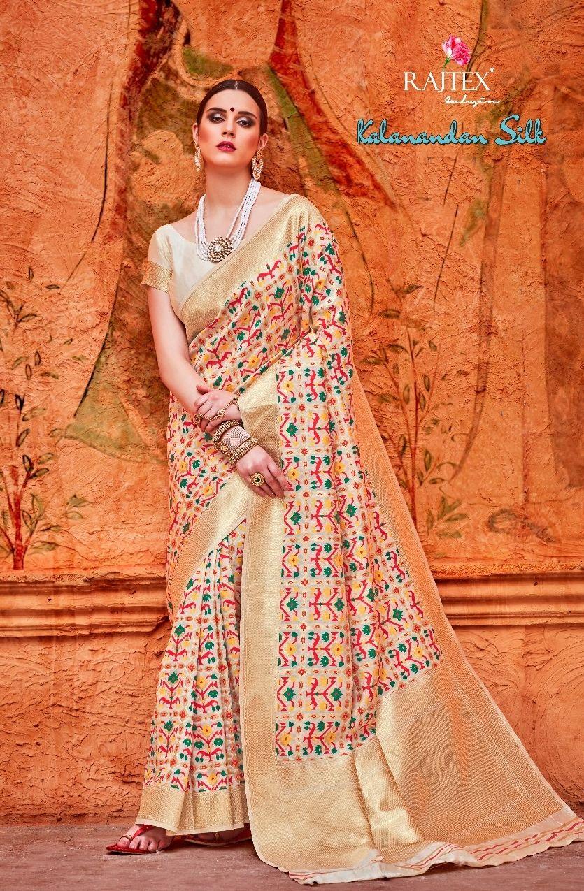 37c3d07278 Rajtex Kalanandan Silk Heavy Handloom Weaving Silk Traditional Sarees  Wholesaler Surat