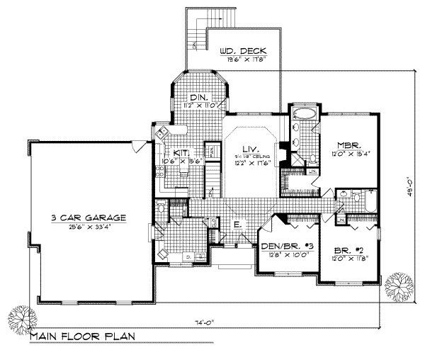 Traditional Style House Plan 3 Beds 2 5 Baths 1700 Sq Ft Plan 70 175