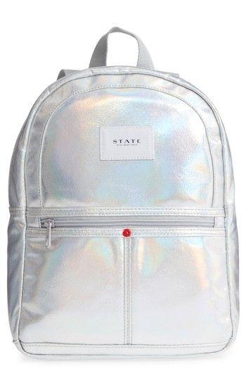6d2792d5c239 STATE BAGS STARRETT CITY - MINI KANE IRIDESCENT BACKPACK - METALLIC.   statebags  bags  backpacks  metallic
