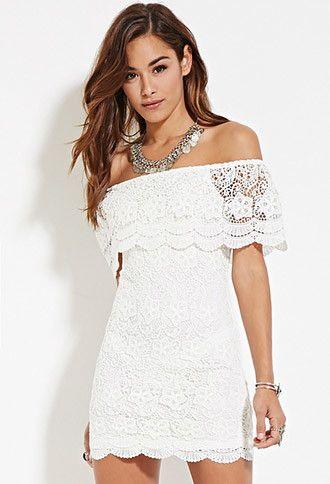 Crochet Off The Shoulder Mini Dress Mini Dress Short Sleeve Mini Dress White Short Sleeve Dress