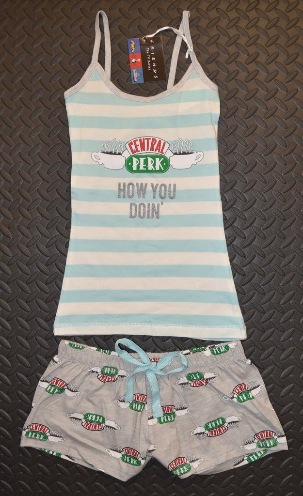FRIENDS THE TV SHOW Shorts Pyjama Set UK Sizes 4-20