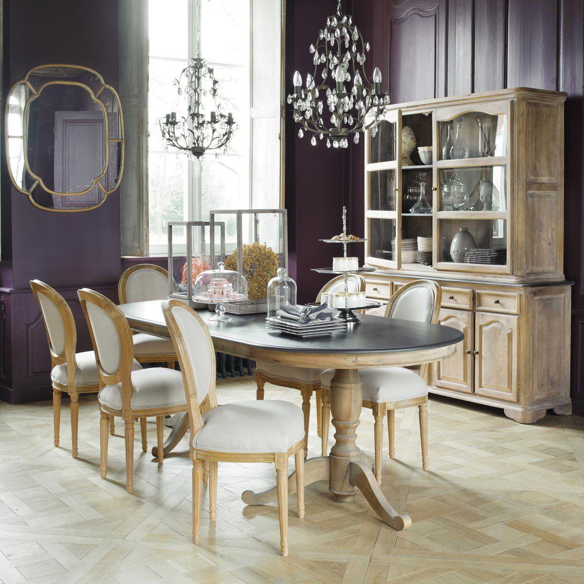 chaise m daillon en lin et ch ne massif pinterest maison du monde chaise medaillon et manger. Black Bedroom Furniture Sets. Home Design Ideas