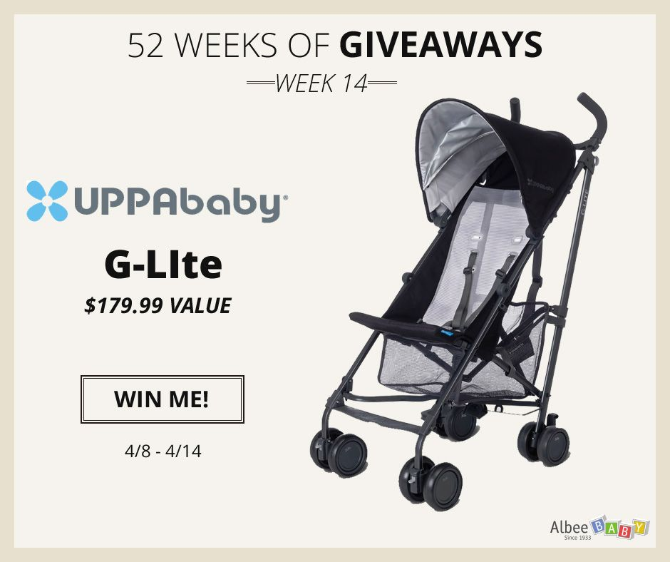 Enter to win an UPPAbaby GLite Stroller from AlbeeBaby