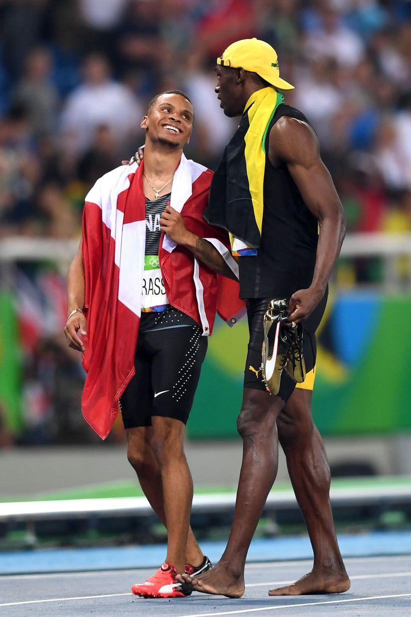 Andre De Grasse, Usain Bolt Usain bolt, Rio olympics