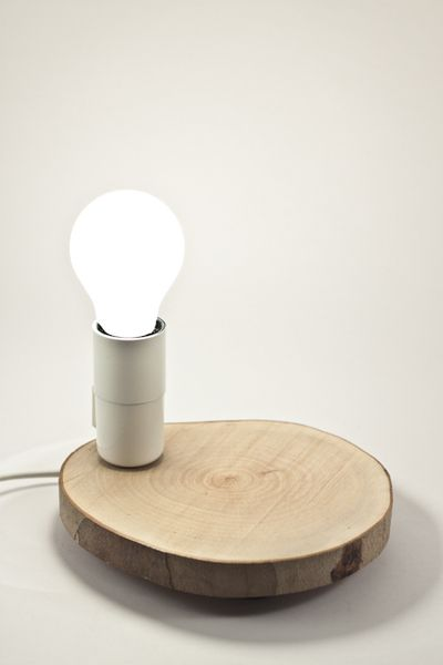 Tronchetto B, lampada, piatto, sezione di tronco di Altrosguardo handmade for home su DaWanda.com