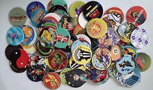 Lot of Pogs w/ Storage Tube | 90s Themed Par-tay