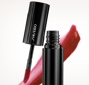Liquid lipstick is a huge trend for fall. The long-lasting formulas provide intense color, rich luster and deep moisture. Try this one from Shiseido (shade: Drama) for a deep, full blooded red. #Sephora