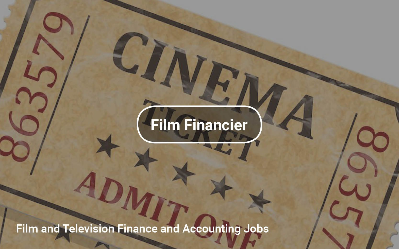Film and Television Finance and Accounting Jobs film