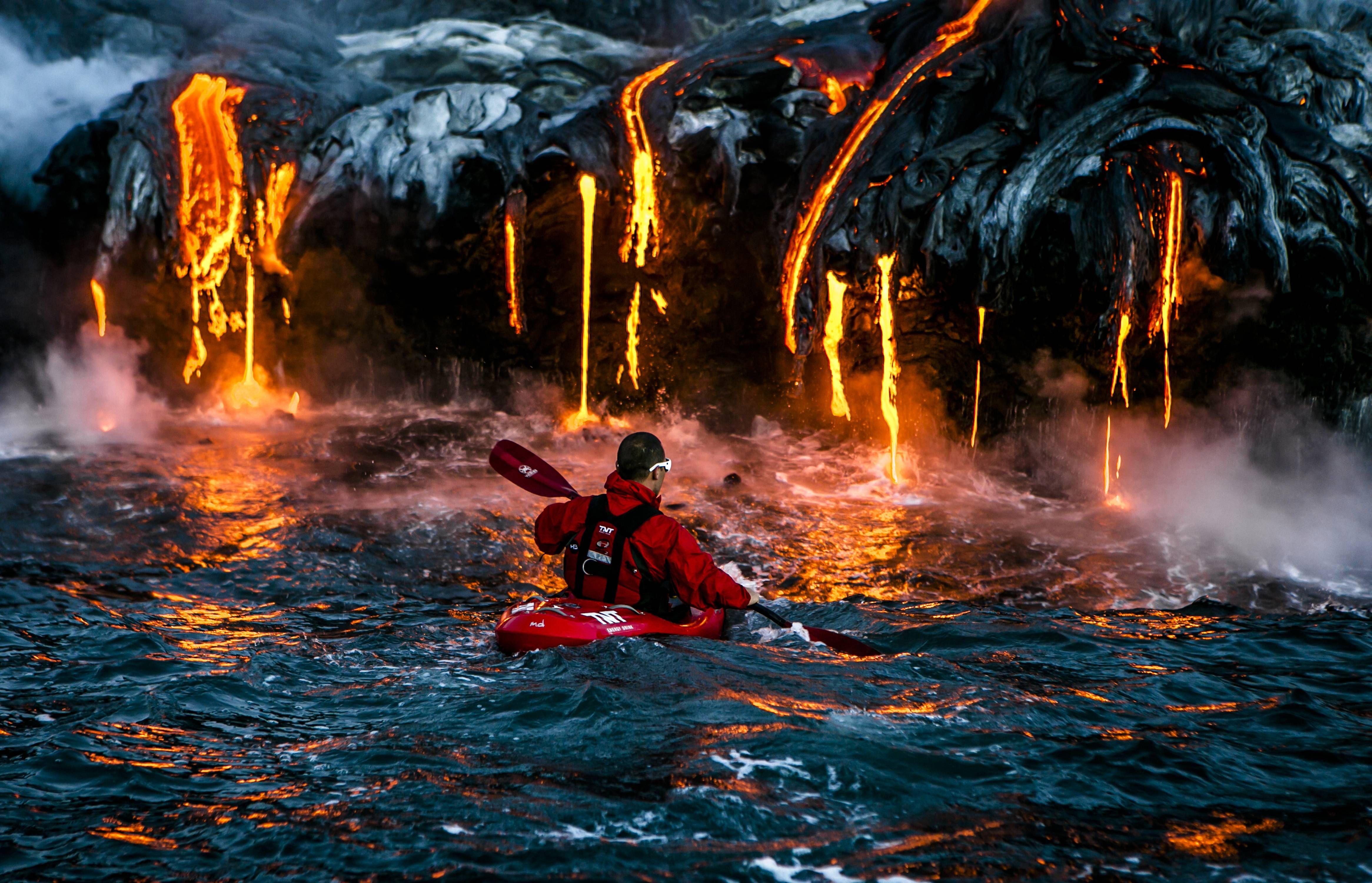 Kayakingg Lava Extreme Kayaking National Geographic Photo