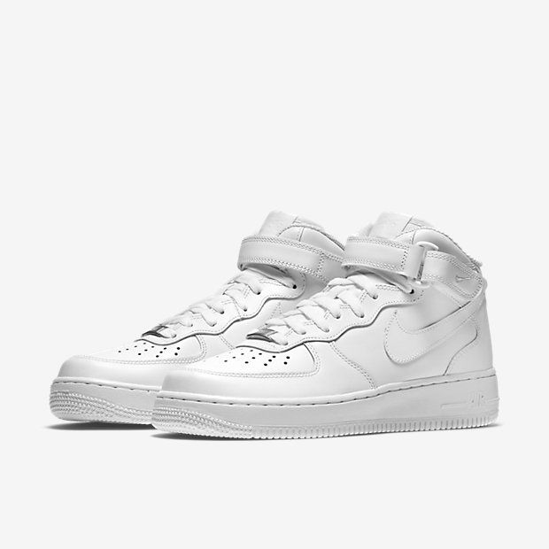 Nike Air Force 1 Mid Top Camionnettes Blanches