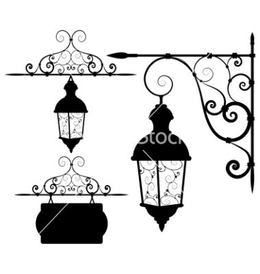 Street Lantern Vector Image On Vectorstock Lantern Drawing Lanterns Old Lanterns