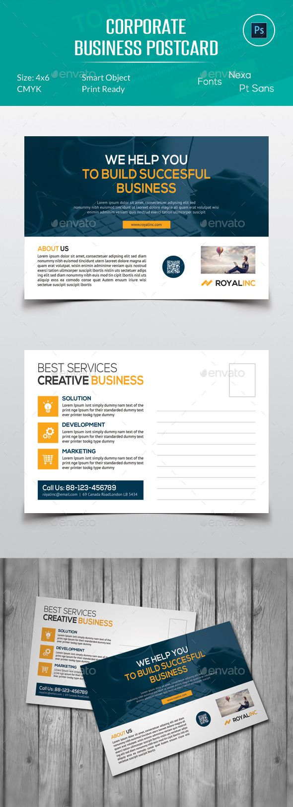 Corporate business postcard template design buy and download http corporate business postcard template design buy and download httpgraphicriveritemcorporate business postcard12834572refksioks accmission Image collections