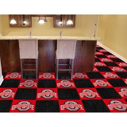 Ohio State Buckeyes NCAA Team Logo Carpet Tiles