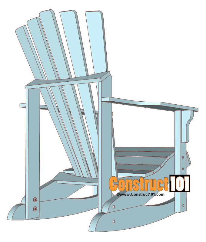 Adirondack Rocking Chair Plans Pdf Download Adirondack Rocking