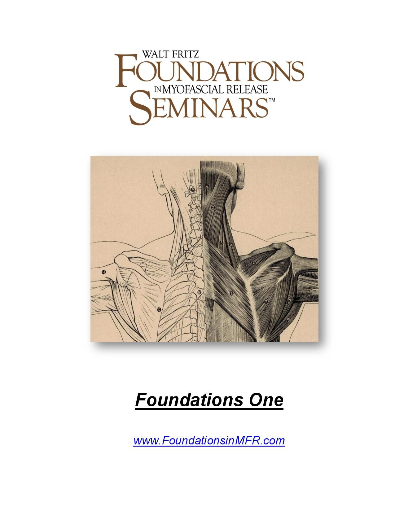 The Updated 2015 Foundations In Myofascial Release Seminar Syllabus