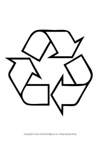Recycling Logo Colouring Page SkoolgoetersSchool Pinterest