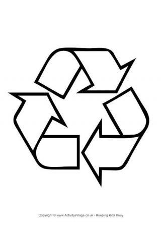 Recycling Logo Colouring Page  SkoolgoetersSchool  Pinterest