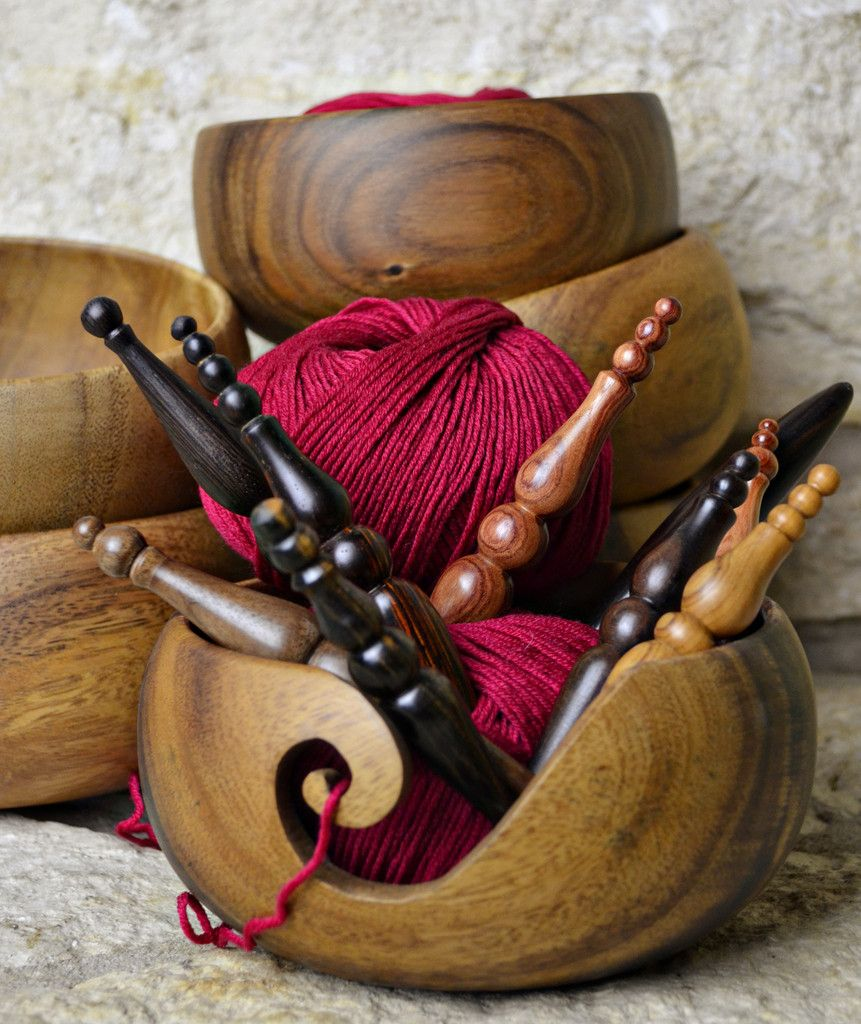 I totally want a hook and look forward to seeing the bowls when the websit has them :) FurlsCrochet — Furls Wooden Yarn Bowl