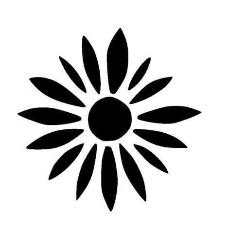 Large Flower Stencils : Large zen flower stencil stencils pinterest